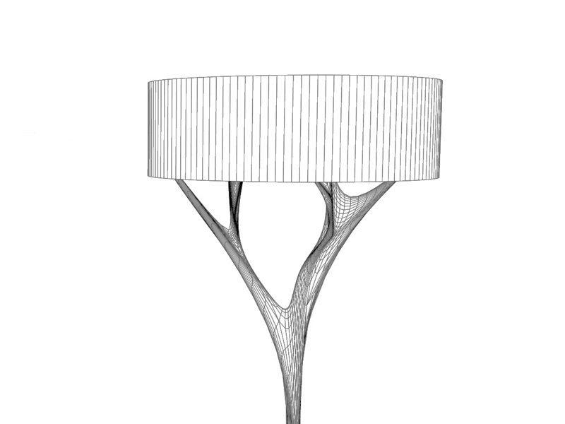 Schuster Innenausbau aus Salach – Stehlampe Design hochwertig Massivholz Eiche