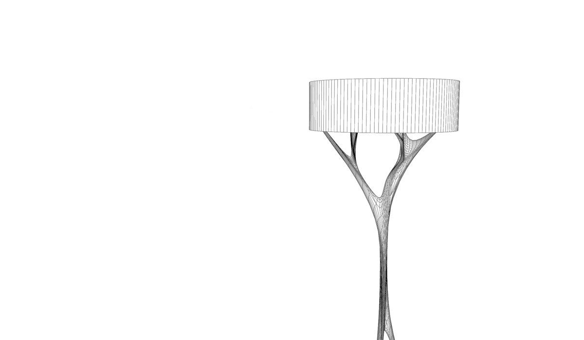 Schuster Innenausbau aus Salach – Stehlampe Design hochwertig Massivholz