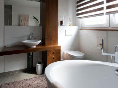Schuster Innenausbau aus Salach – Holz im Badezimmer