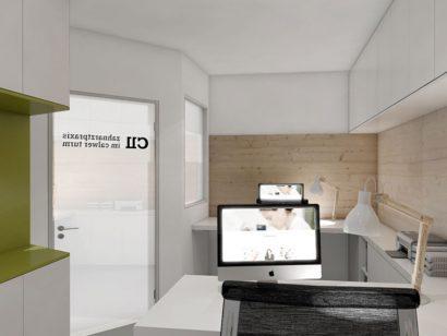 Schuster Innenausbau aus Salach – Gestaltung eines Büros für eine Zahnarztpraxis - Titelbild