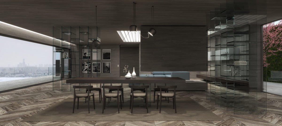 Schuster Innenausbau aus Salach – Exklusive-Innenarchitektur-Loftwohnung-Esszimmer