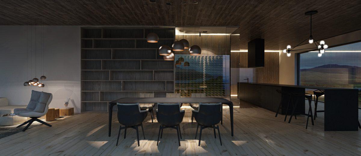 Schuster Innenausbau aus Salach – Einzigartige Innenarchitektur Island offenes Esszimmer