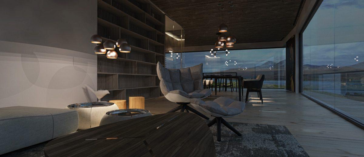 Schuster Innenausbau aus Salach – Einzigartige Innenarchitektur Island offenes Esszimmer 2