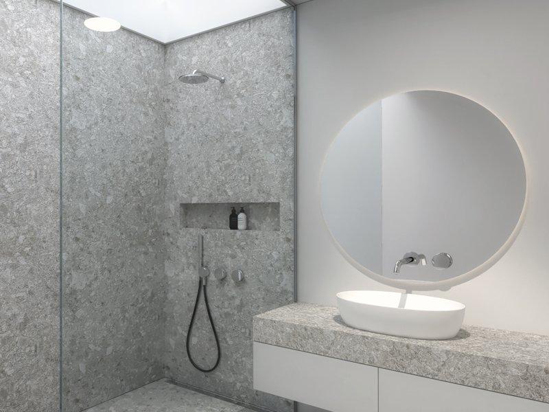 Schuster Innenausbau aus Salach – Hochwertiges Interior Design einer Wohnung in München Badezimmer Titel